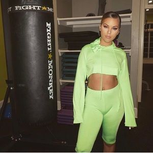 Lime Green 2 Pc Workout Gear